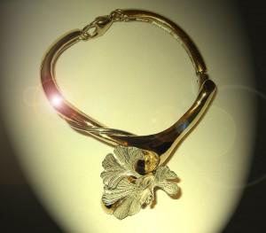 Bracelet Bouquet de Ginkgo  |  Argent et Vermeil