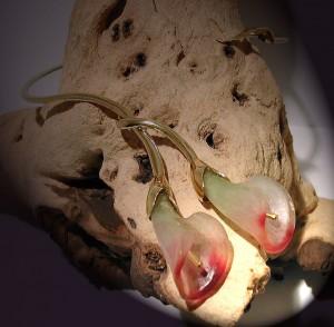 Collier Arum pâte de verre | Argent ou vermeil