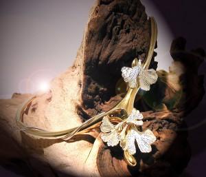 Collier Bouquet de Ginkgo   |   Argent et Vermeil